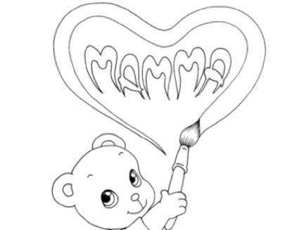 Festa della mamma disegni da colorare for Disegni da copiare a mano facili