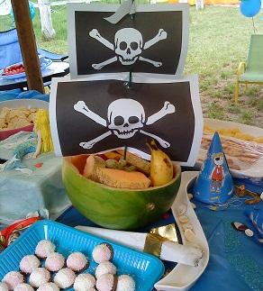 feste-compleanno-buffet-pirati-anguria