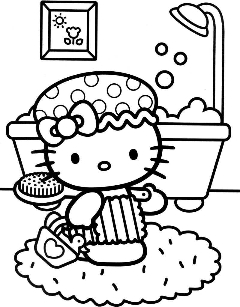 Disegni Da Colorare Hello Kitty Buon Compleanno.Hello Kitty Fa Il Bagno Blogmamma It