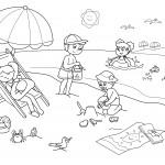 vacanze-bambini-disegni-da-colorare-bambini-in-spiaggia