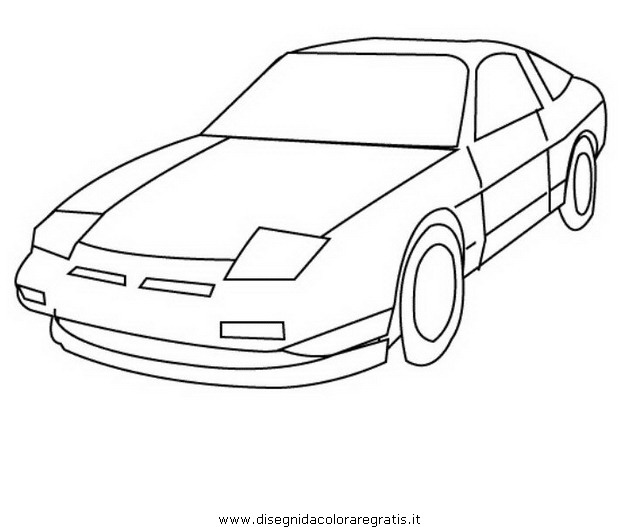Bambini e auto i disegni da colorare - Profili auto per colorare ...