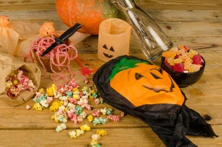 Maschera e dolcetti di Halloween
