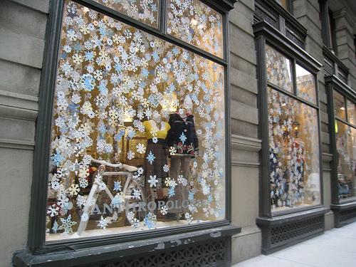 Addobbi di natale fiocchi da attaccare alle finestre - Decorare le finestre per natale ...