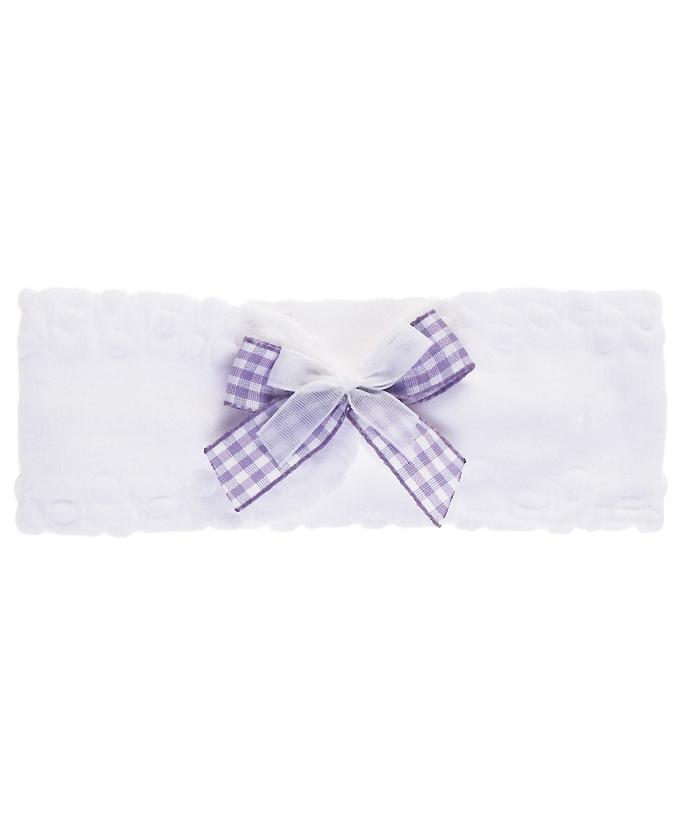 fascia bianca con fiocco per bambina