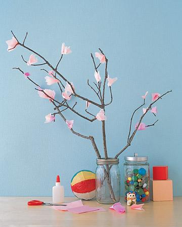 ramo con fiori di carta