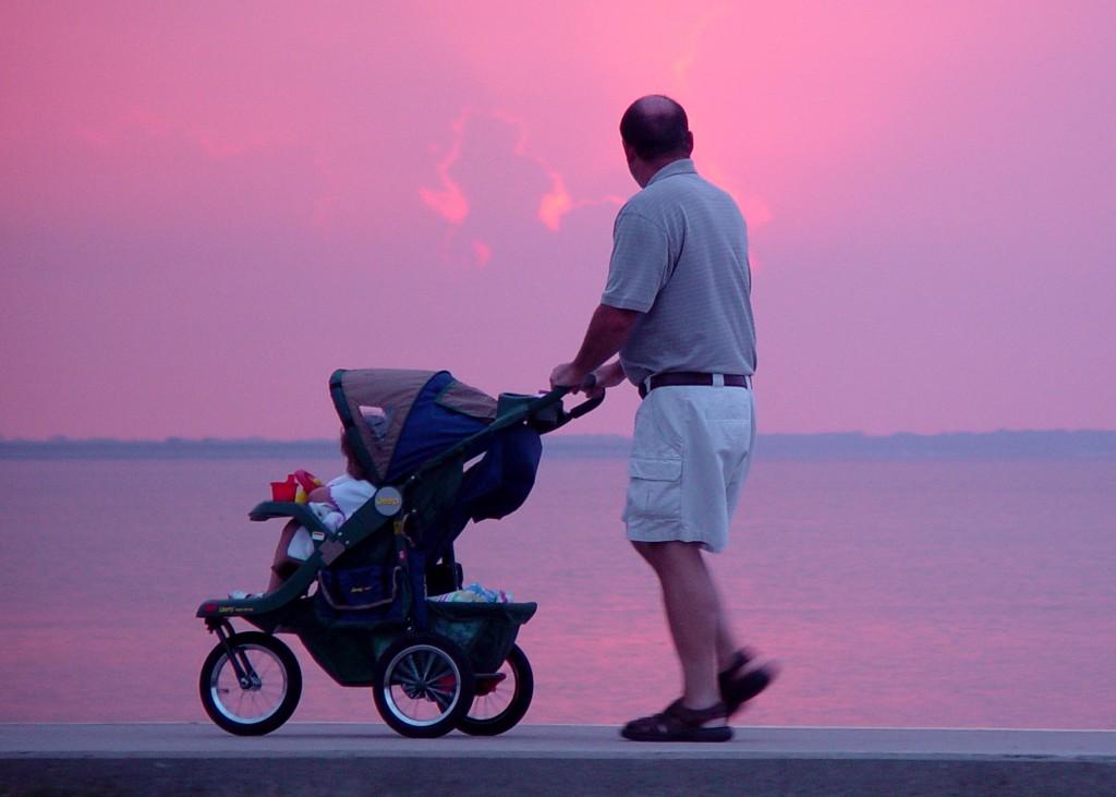 passeggino con papà