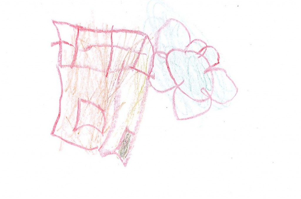 Disegno di Luiza – casetta e fiori