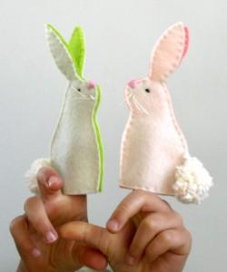 coniglietti di feltro