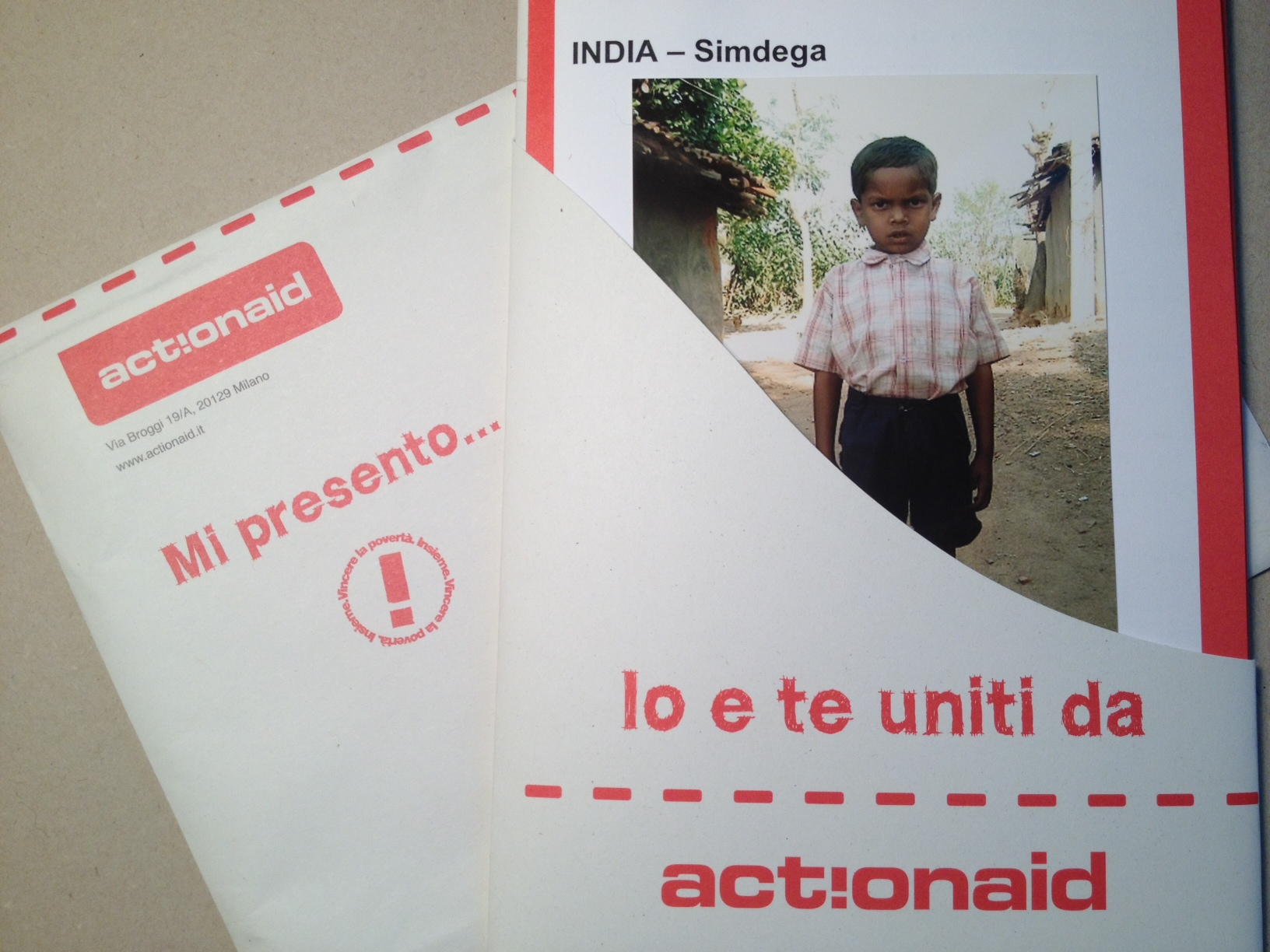 Kit informativo ActionAid