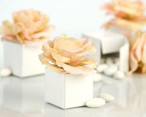 scatola con fiore
