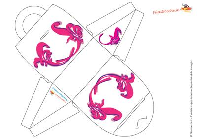 scatola a forma di borsetta