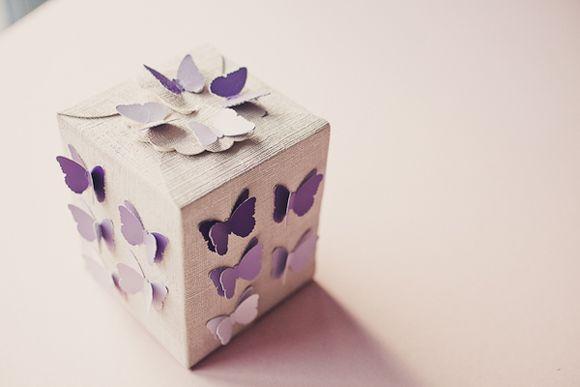 scatola lilla bomboniera