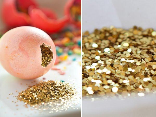 uova riempite di glitter
