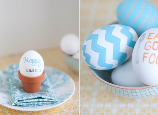 Pasqua uova decorate segnaposto - Uova di pasqua decorate per bambini ...
