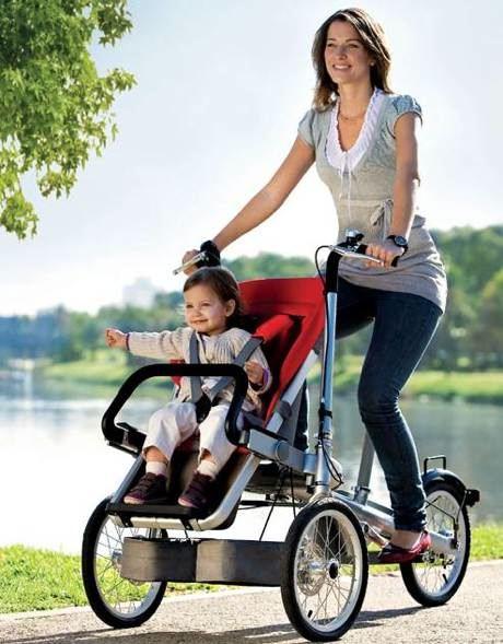passeggino e bicicletta