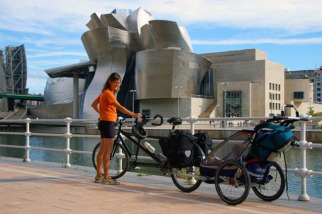 rimorchio per bici e passeggino chariot