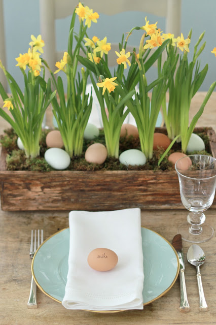 Charming Tavola Pasqua Vaso Narcisi