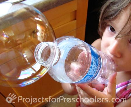 bottiglia per bolle sapone
