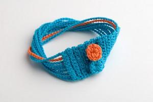 braccialetto turchese uncinetto