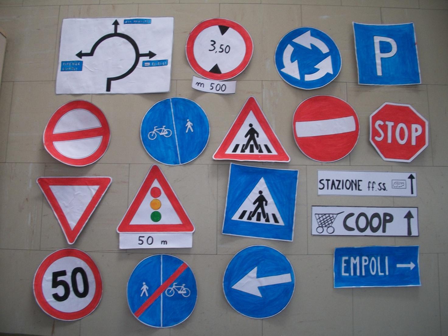 segnali disegnati scuola