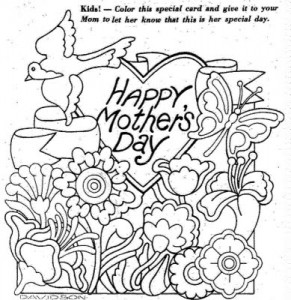 disegno festa della mamma