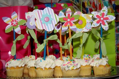 fiori sui cupcakes