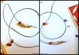 segnalibri con perle di carta