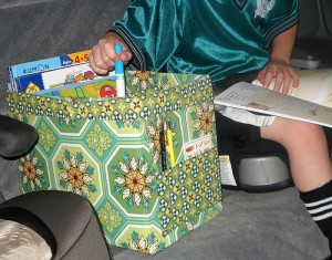 scatola per viaggi in auto