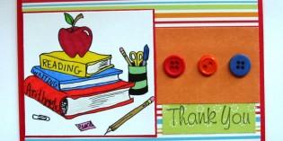biglietto di ringraziamento per maestra