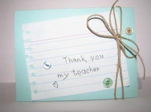 biglietto ringraziamento maestra