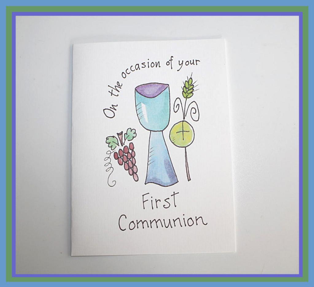 biglietto di auguri per prima comunione