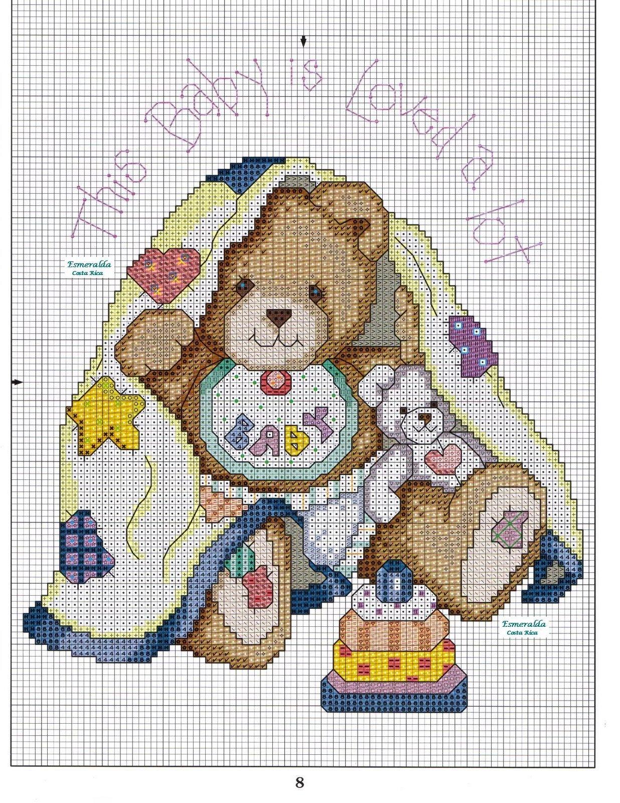 Punto croce orsetto for Punto croce bambini gratis
