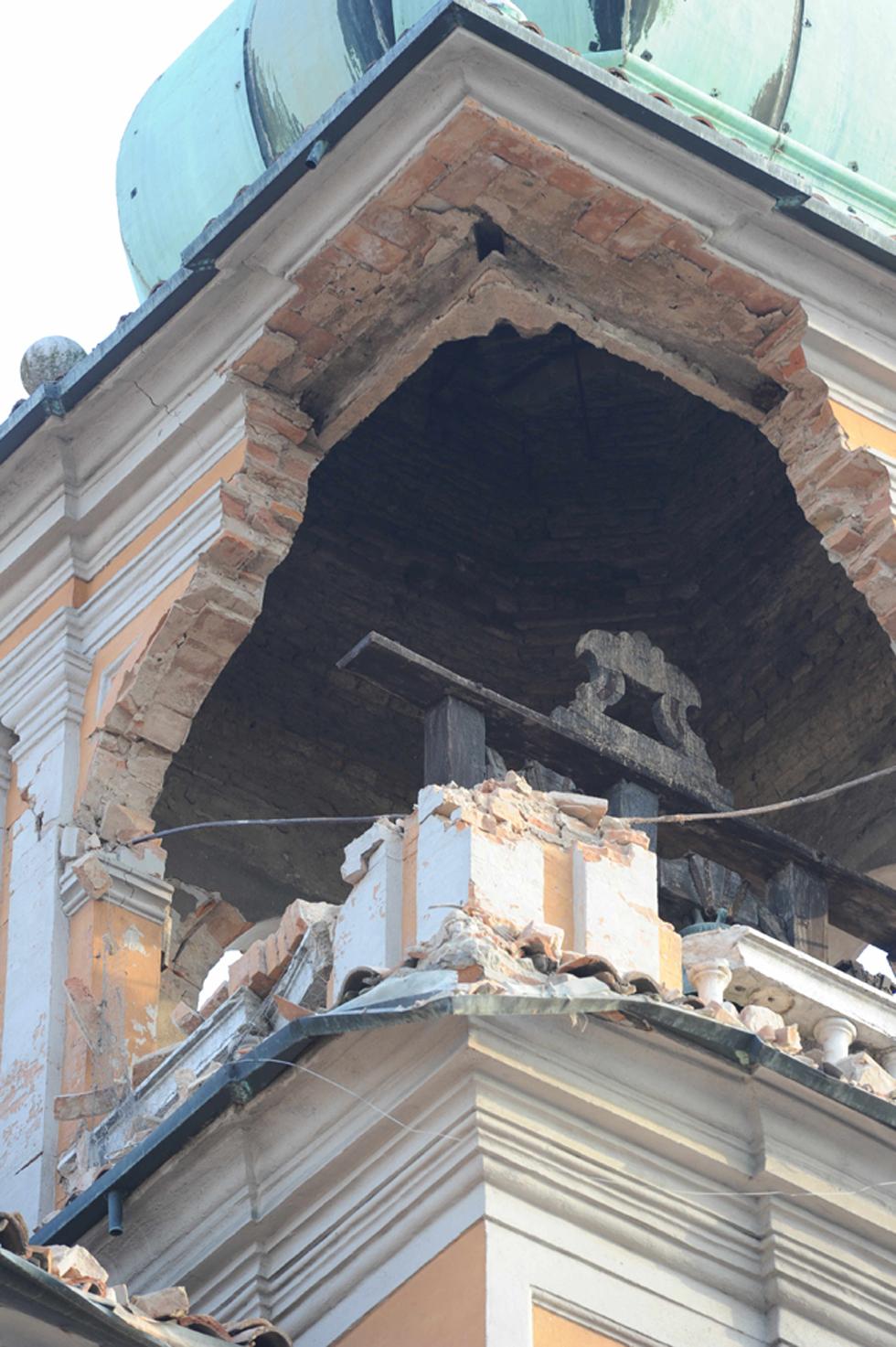 il campanile del municipio di Finale Emilia