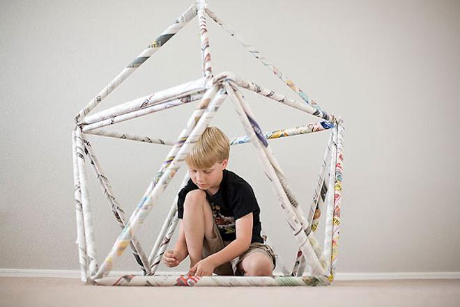 attività di craft per bambini proposta da Jan Halvarson su wired.com