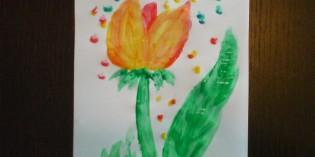 Tutorial: dipingere un tulipano con le tempere a dita