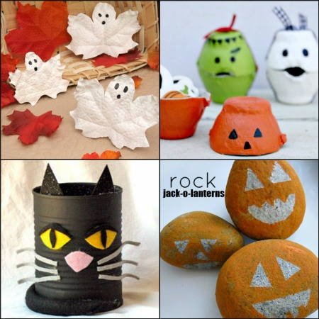 collage di lavoretti per halloween