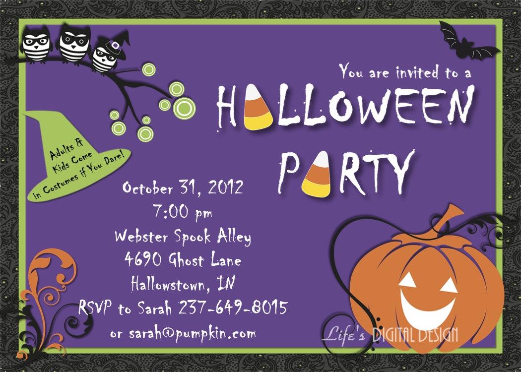 Free Printable Halloween Party Invitations Templates | denarius.info