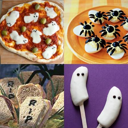 collage di ricette semplici per halloween