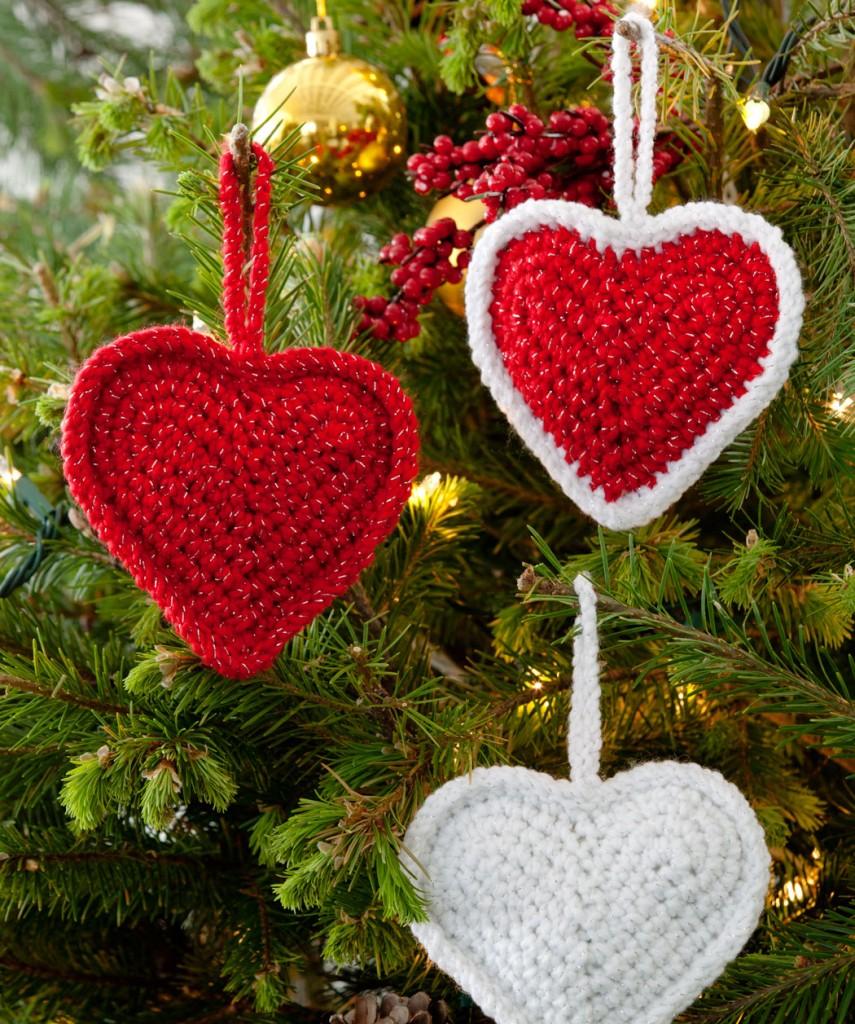 Natale uncinetto cuori for Idee uncinetto