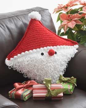 Natale uncinetto cuscino for Lavori natalizi uncinetto
