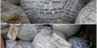 palline decorate con la carta