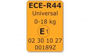 etichetta omologazione seggiolini