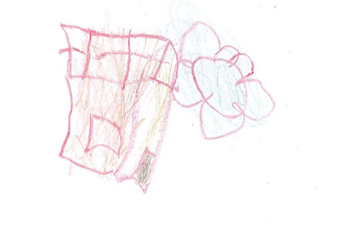 Disegno di Luiza - casetta e fiori