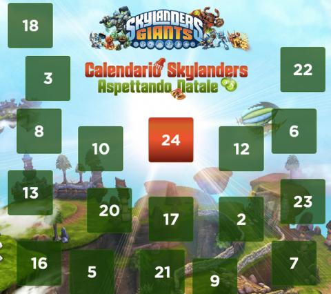 calendario di natale skylanders
