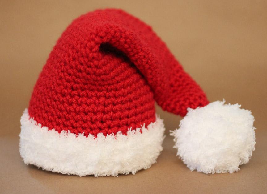 cappello da babbo natale all'uncinetto