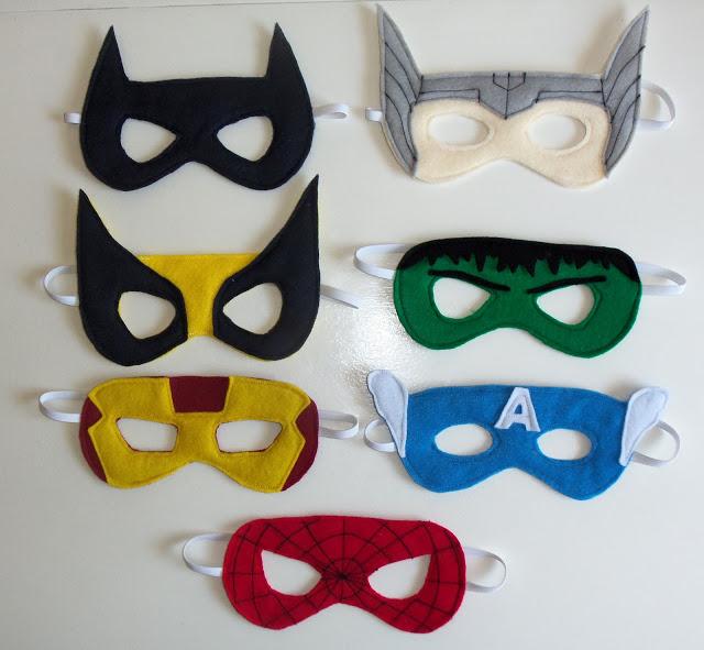 maschere da supereroi per carnevale fai da te