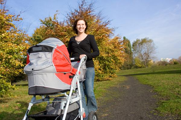 passeggiata con neonato