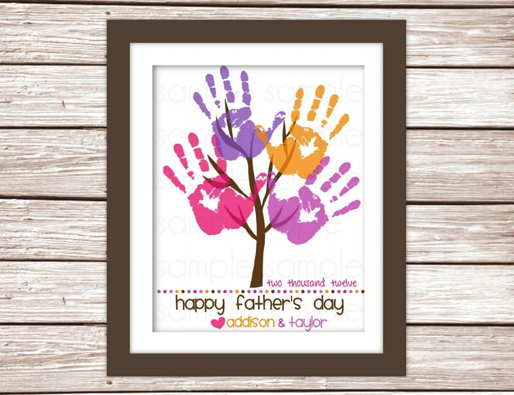 albero impronte festa papà