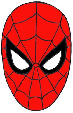 Maschere di carnevale da stampare i super eroi for Uomo ragno immagini da colorare