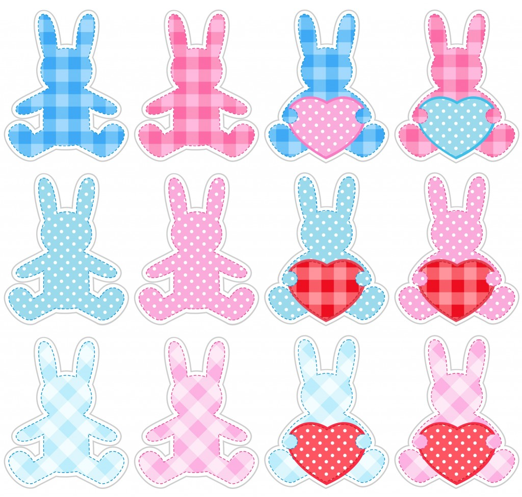 coniglietti Pasqua da stampare
